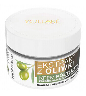 Vollare Face Cream Semi-Rich with Olive Extract