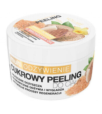 Vollare Sugar Body Peeling Multi Nourishment with Sweet Almond and Vanilla Extract & Macadamia Oil